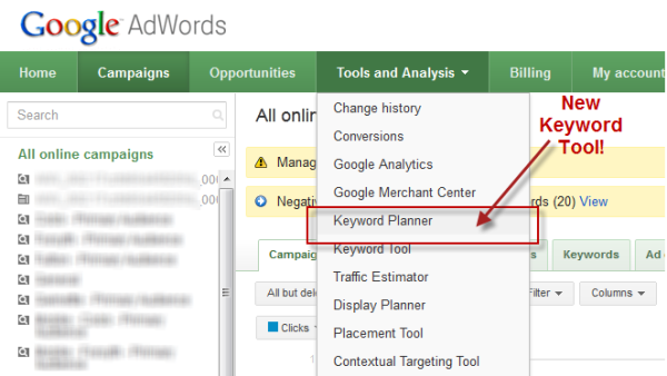 using google keyword suggestions tool