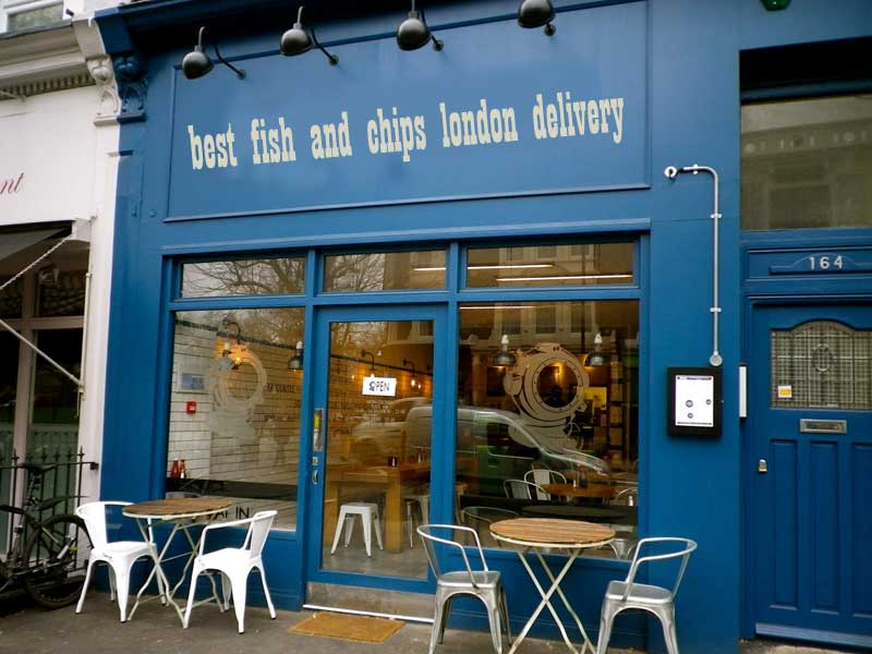 fish and chips london delivery - If businesses were named to rank better in Google