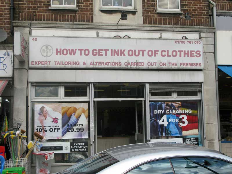 how to get ink out of clothes - If businesses were named to rank better in Google