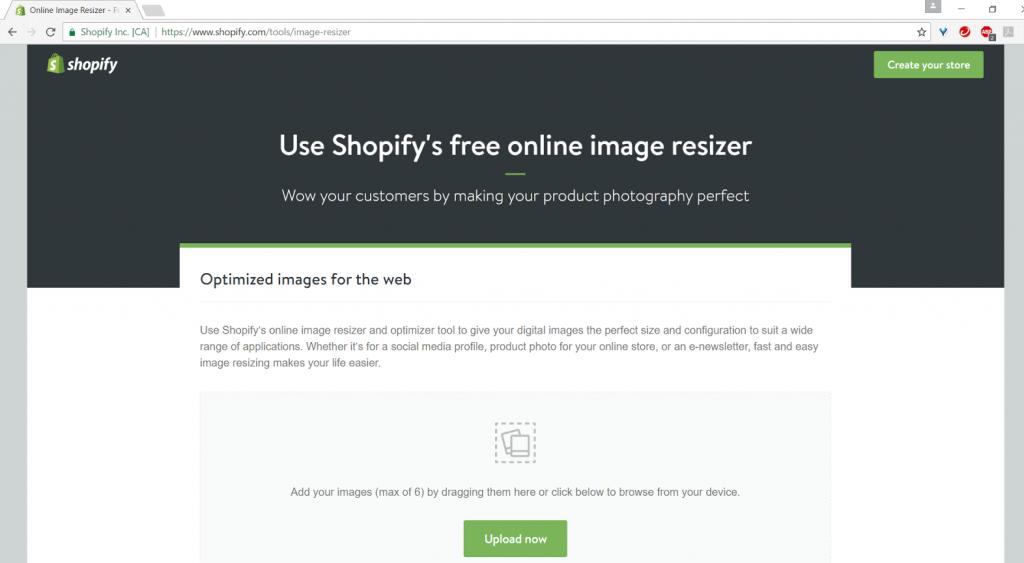 shopify resizing image tool